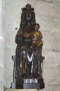Though often interpeted as a simple statue of Mary with baby Jesus, Black Madonnas stem from a tradition of goddess-based worship predating Christianity. The dark material is intentional, reflecting the dark color of fresh earth, since the statues played a role in fertility rites. Over time, the cults of Isis and other godesses were absorbed into the nascent Christianity: the names changed, but the images stayed the same.